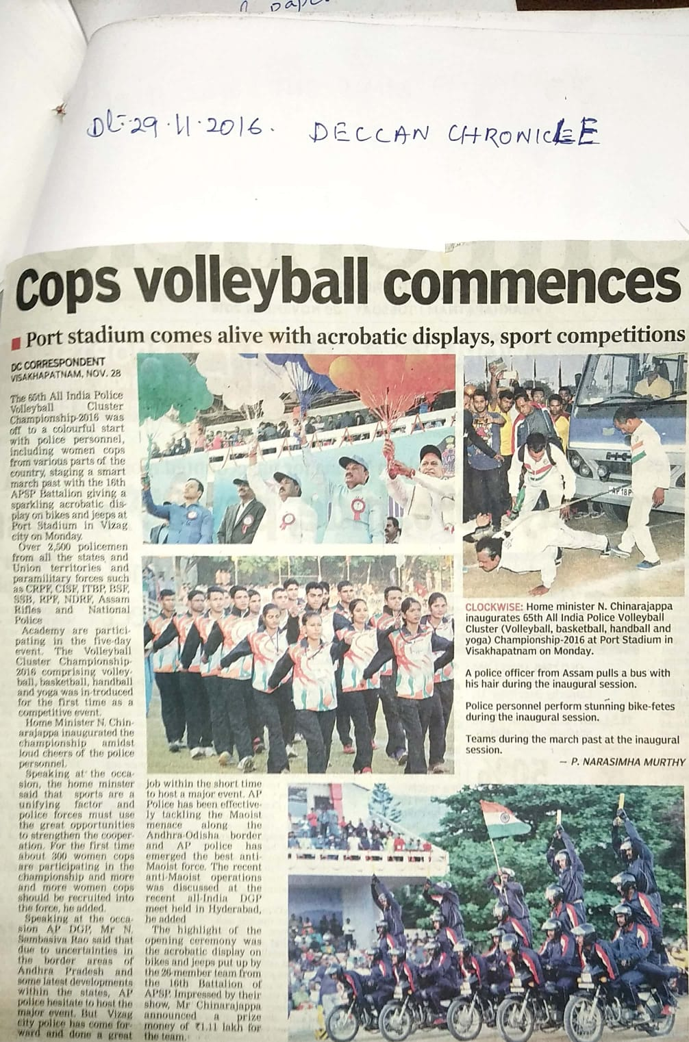 Cops Volleyball Commences- Port Stadium comes alive with acrobatic displays