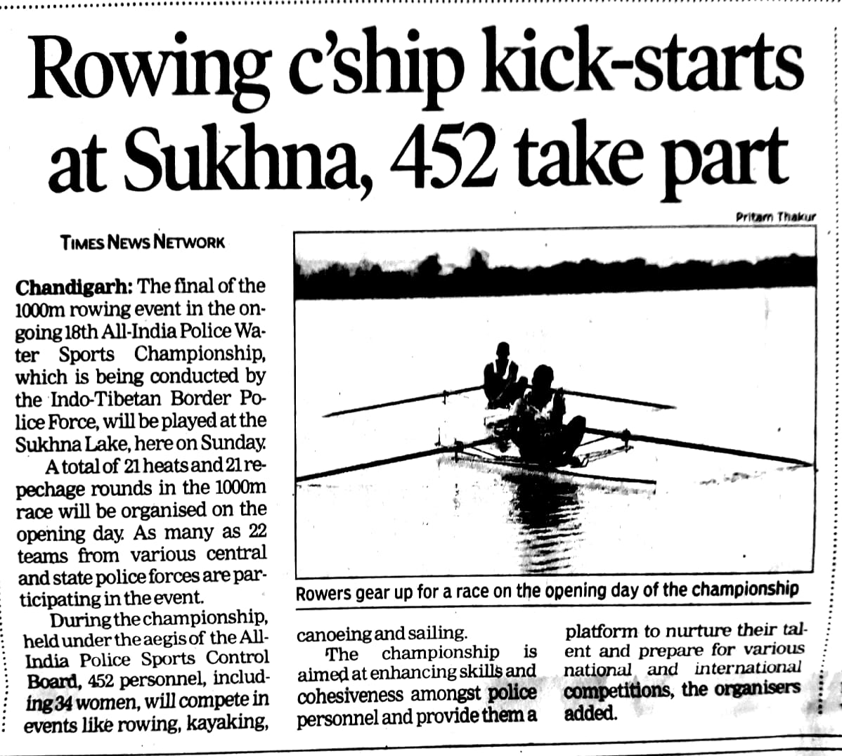 Rowing Championship kick starts at sukhna
